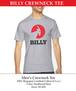 Men's Crewneck Tee, zipper, shoes, velcro, adaptive, accessible, afo, universal, kids, comfortable, BILLY Footwear