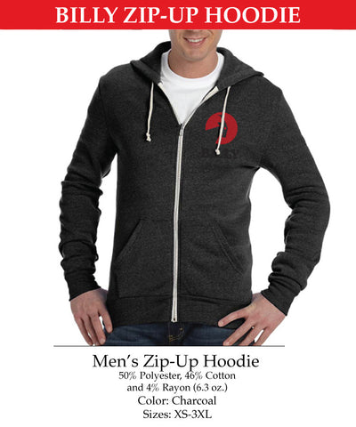 Men's Zip-Up Hoodie, zipper, shoes, velcro, adaptive, accessible, afo, universal, kids, comfortable, BILLY Footwear