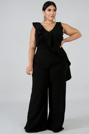 Down The Line Flare Jumpsuit