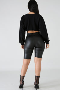Leatherette Shorts | GitiOnline