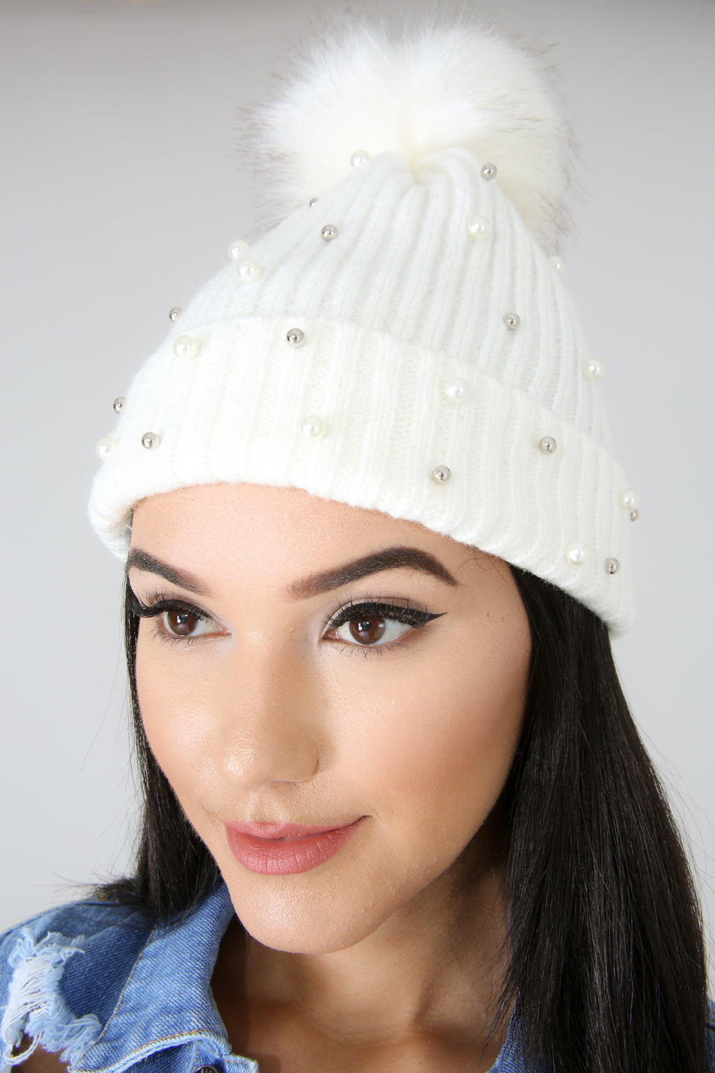 Pearl Puff Knit Beanie | GitiOnline
