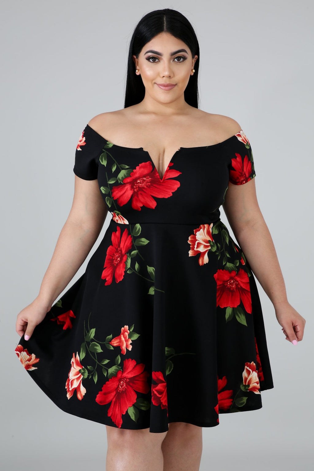 Floral Fun Flare Dress | GitiOnline