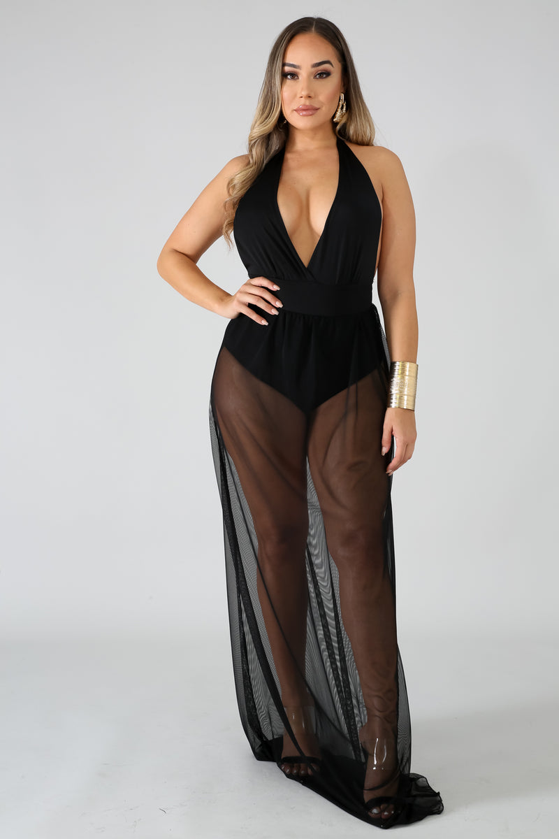 Sheer Maxi Dress | GitiOnline