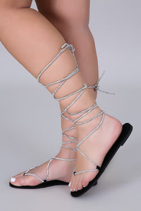 Glamming Tie Up Sandals