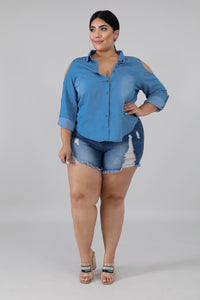 Casual Denim Top | GitiOnline