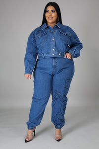 You Gotta Love It Denim Pant Set