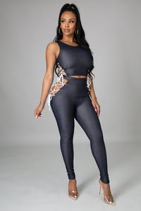 Laced Legging Set
