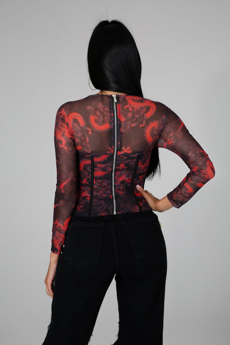 Running Out Of Time Corset Top