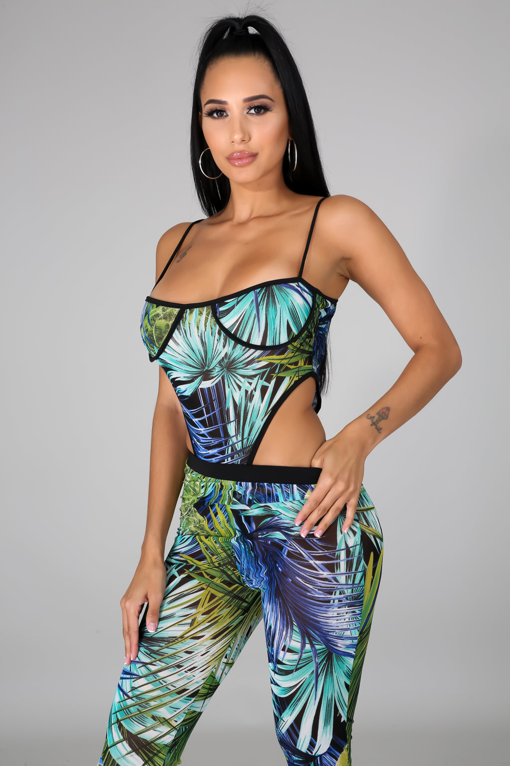 In The Tropics Bodysuit Pant Set