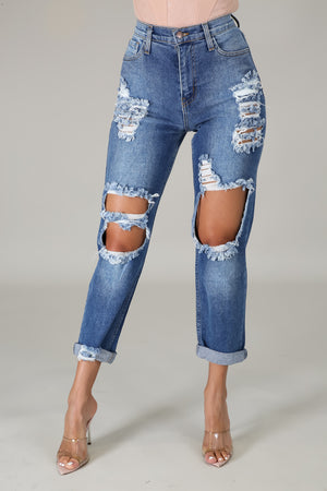 Say Yes To Distress Jeans