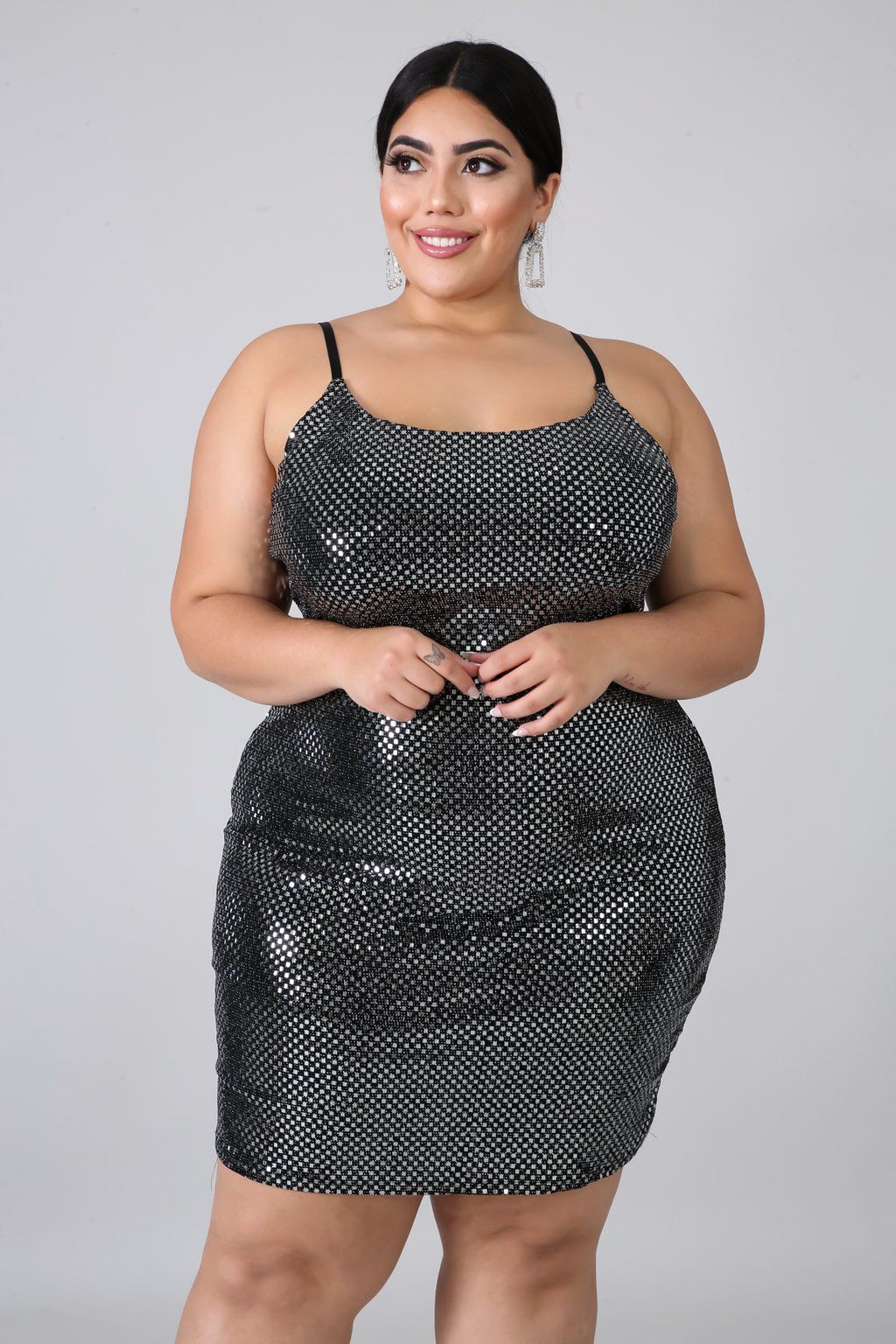 Boxed Shine Dress | GitiOnline