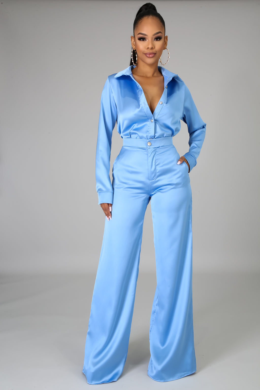 Slay In Satin Pant Set