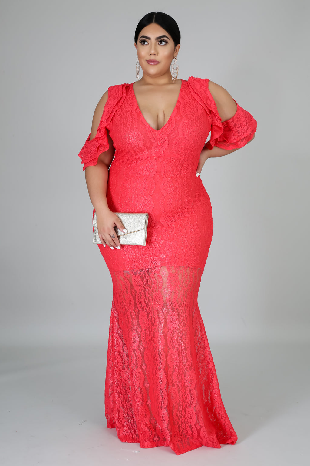 Shine Lace Maxi Dress | vendor-unknown