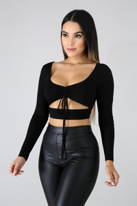 Slash Scrunched Crop Top | GitiOnline