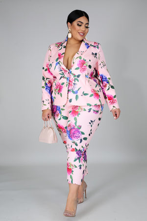 Dose Of Roses Blazer Set