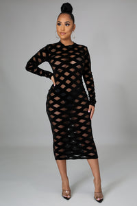 Showing Out Midi Dress
