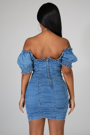 Rushed For You Denim Dress | GitiOnline