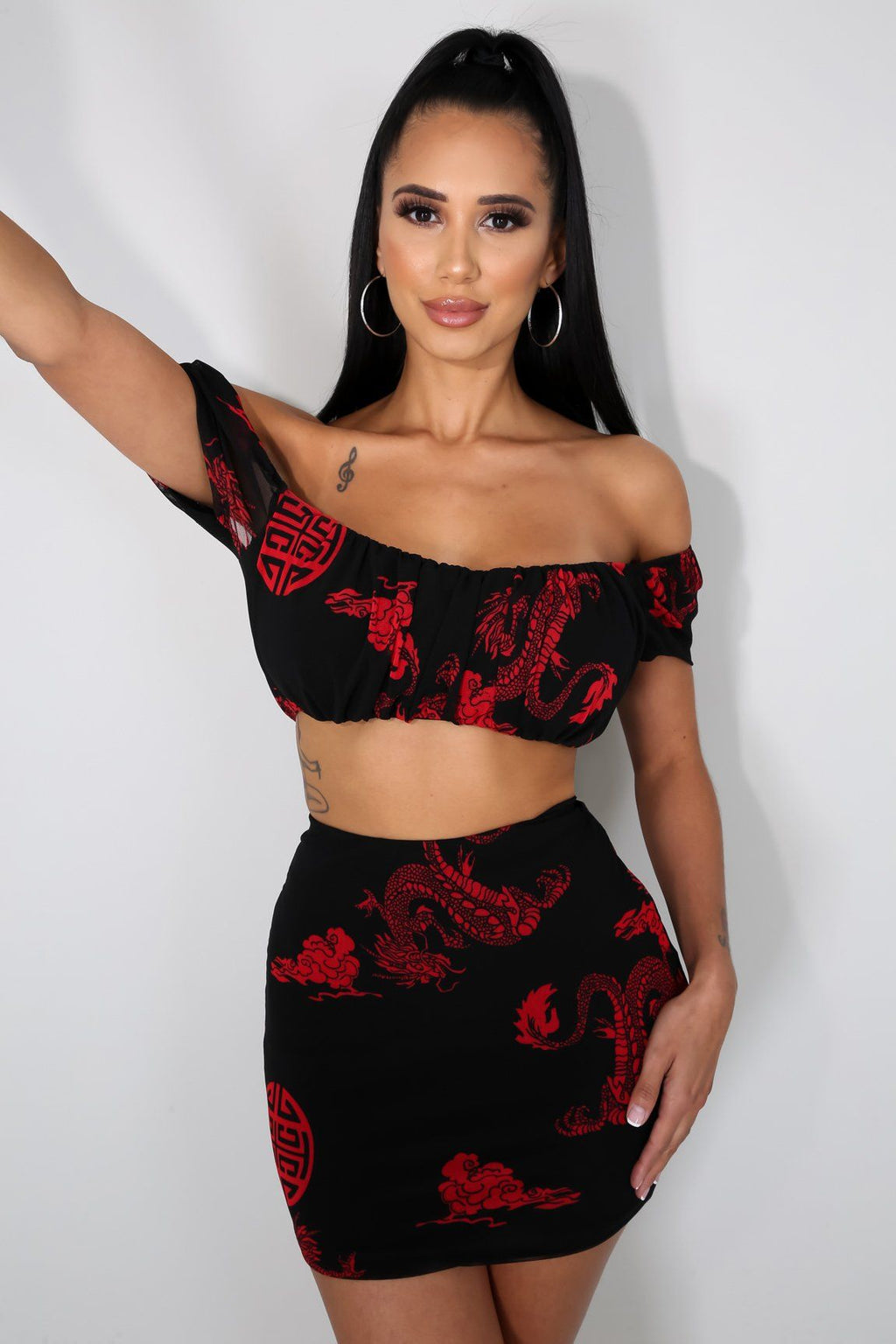 Asian Persuasion Skirt Set
