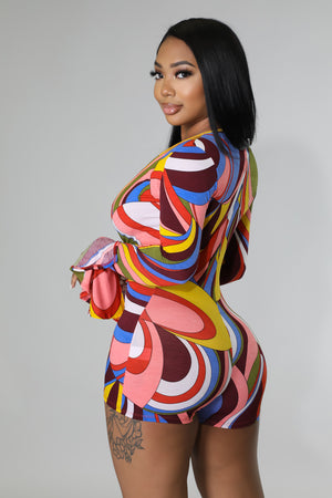 Color Scrunched Romper