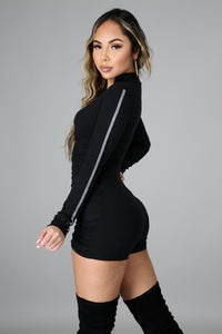 All Ruched and Ready Romper