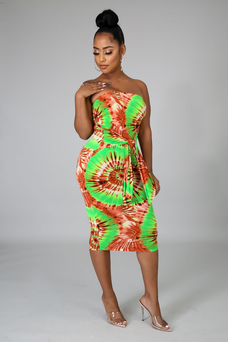 Summer Splash Midi Dress