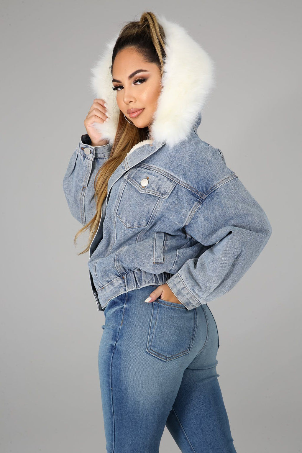 Staying Warm Denim Jacket