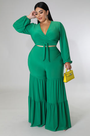 Wrap Skirt Set