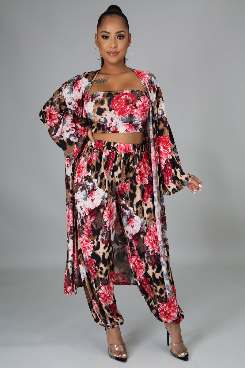 3pc Flower Power Pant Set