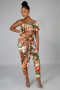 Exotic Palms Pant Set