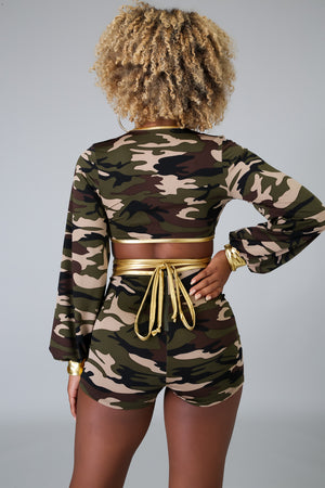 Let's Camouflage Short Set