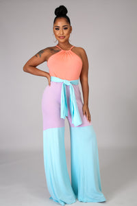 Blue Cotton Candy Jumpsuit
