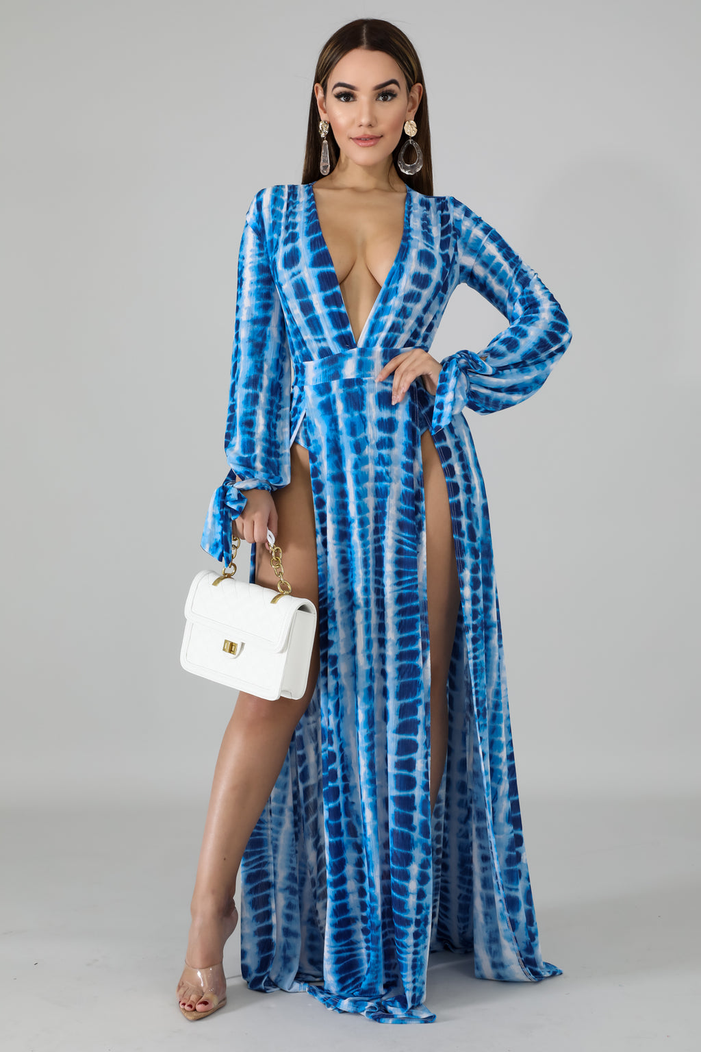 Ocean Slit Maxi Dress | GitiOnline