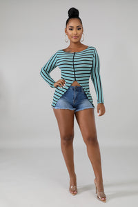 Stripe Bermudas Set