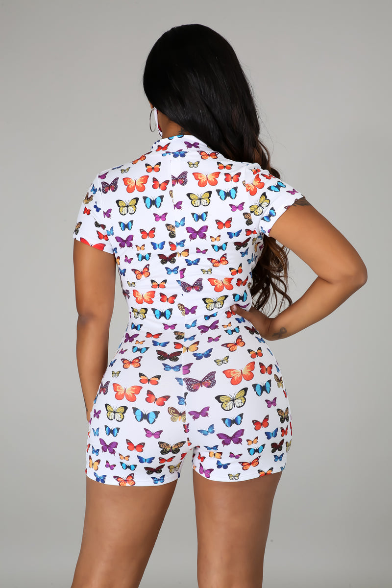 Fly To It Romper Set