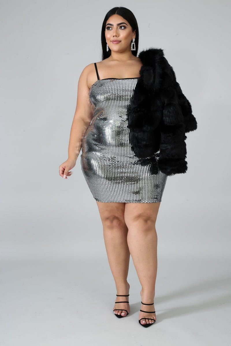Mirror Glaze Body-Con Dress | GitiOnline