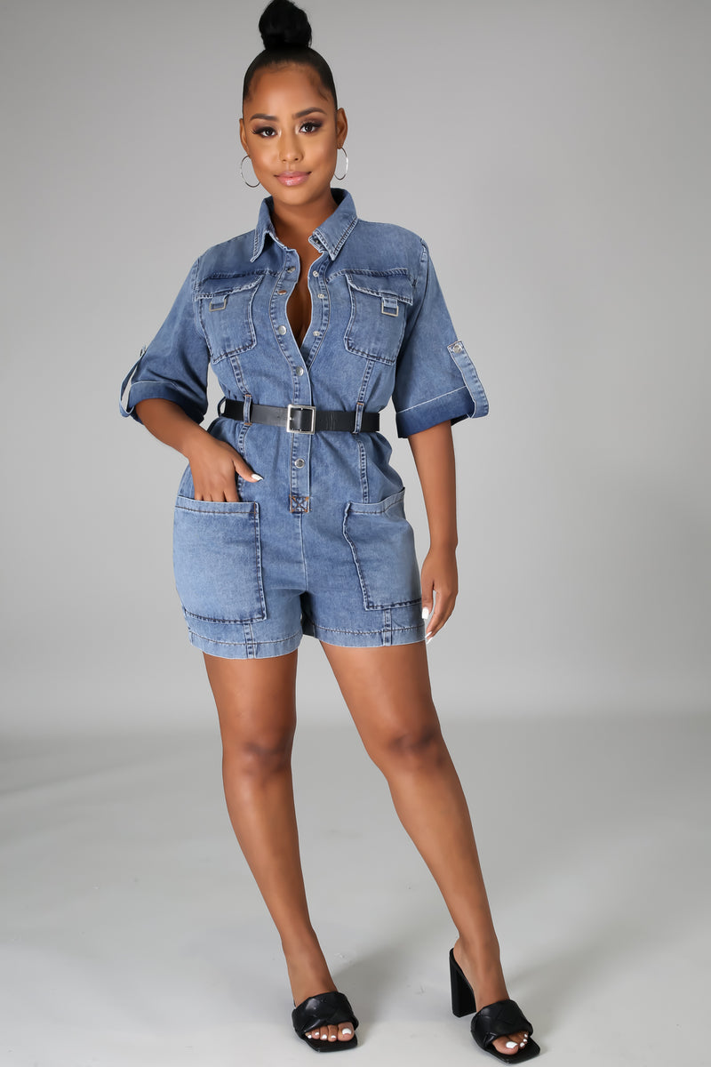 Sunday Best Denim Romper