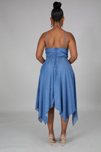 Why Knot Denim Dress