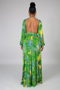 Palms Slit Maxi Dress