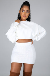 Too Little Too Late Skirt Set