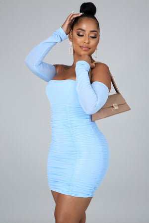 Hot And Ruched Mini Dress