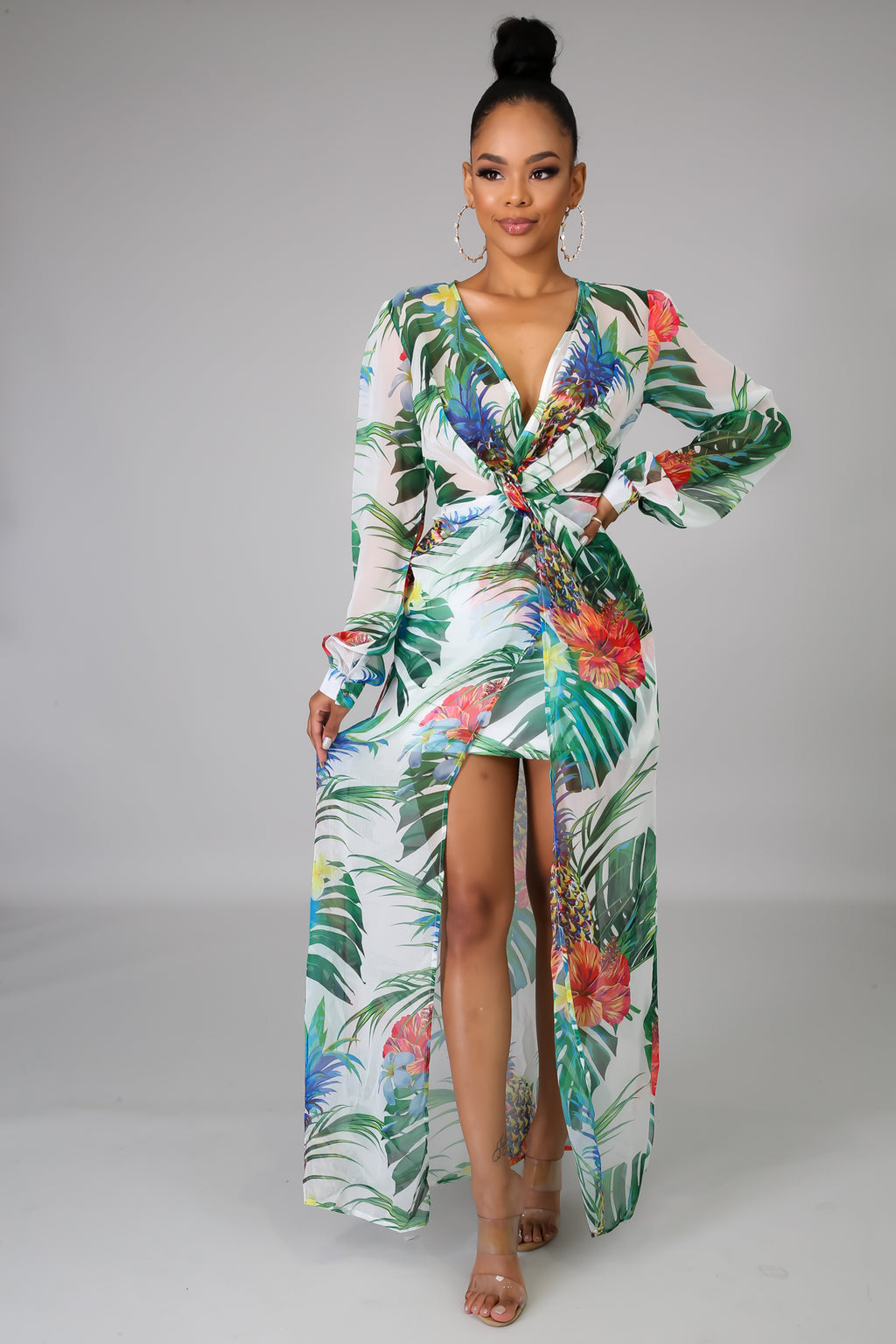 Copy of Vivid Floral Maxi Dress-2/16 | GitiOnline