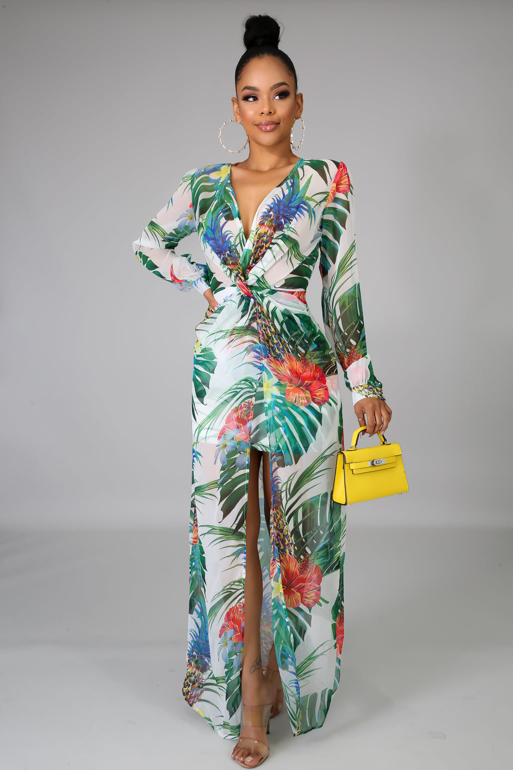 Vivid Floral Maxi Dress | GitiOnline