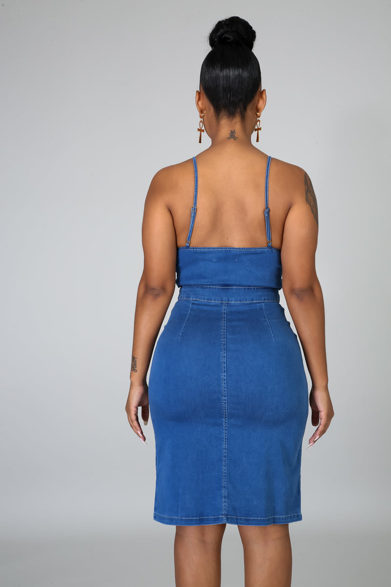 Selena Denim Dress