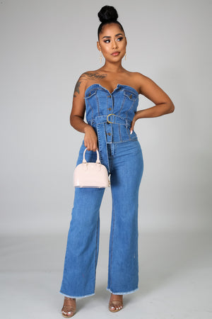 No Games Denim Set