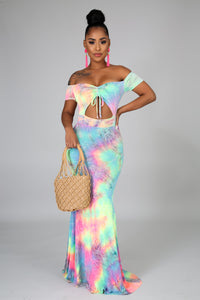 Sweet Tie Dye Mermaid Dress