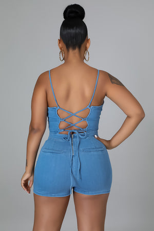 Bounce Denim Jumpsuit
