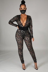 3pc Craving You Bodysuit Pant Set