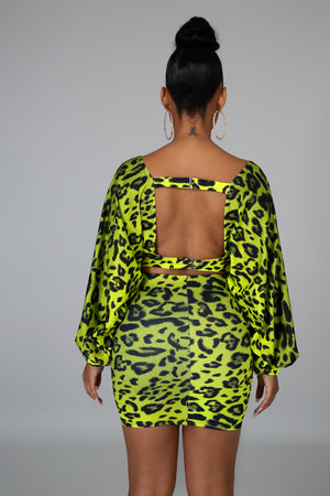 Neon Cheetah Mini Skirt Set | GitiOnline