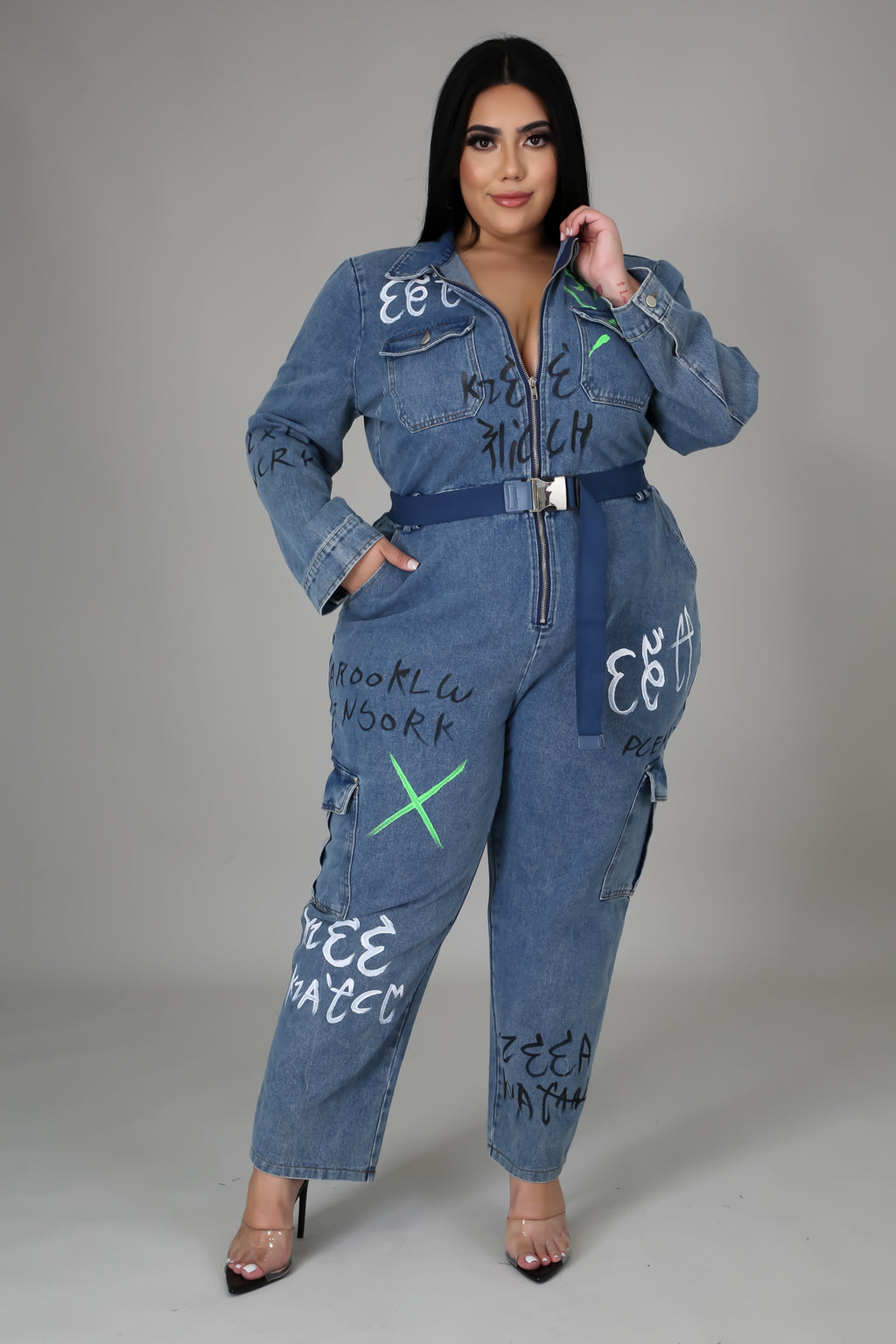 Daisy Denim Jumpsuit