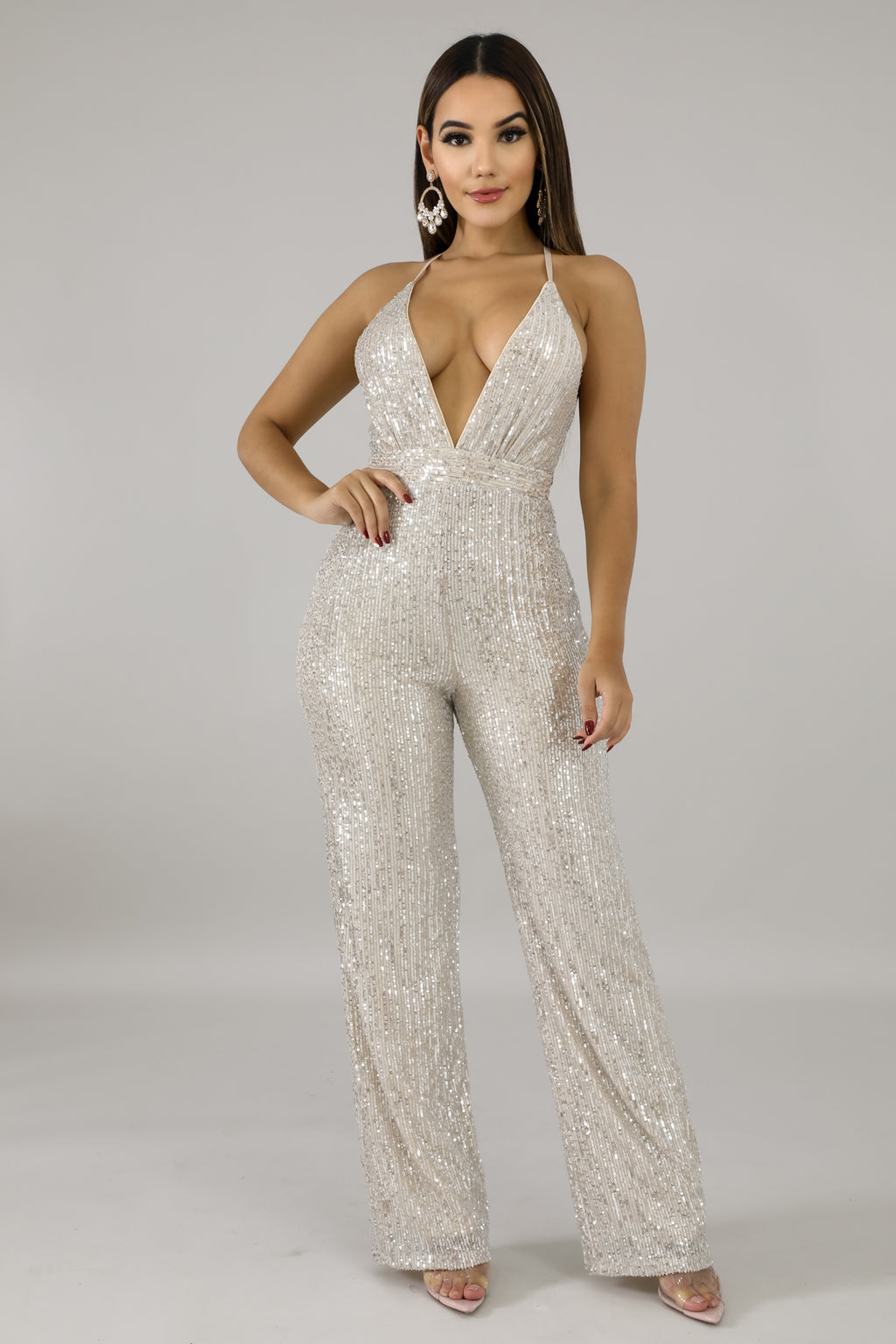 Sequin Drops Jumpsuit